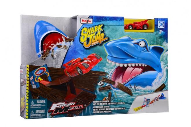 Pista lanzadera Shark Jump Maisto Fresh Metal Azul