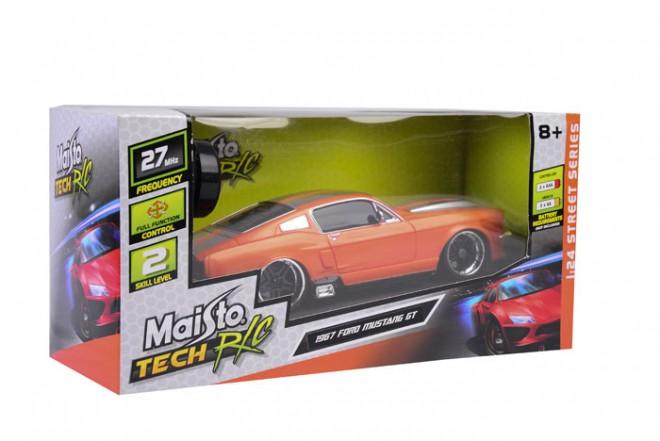 Auto Mustang GT '67 radio control escala 1:24 Maisto Naranja