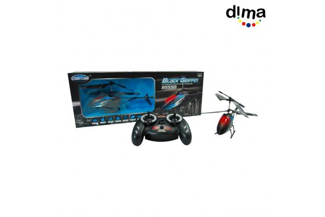 Helicóptero radio control rojo