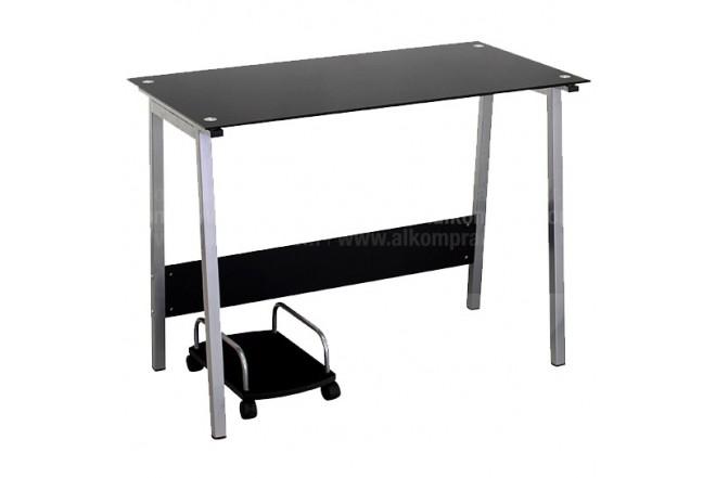 Mesa de escritorio en vidrio negra ly1454 - Mesa escritorio negra ...