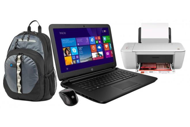 Portátil HP 14-W006 + Morral + Mouse + Multifuncional