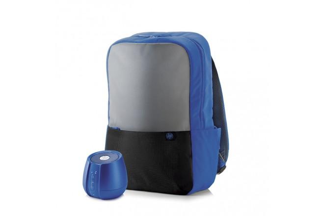 Kit Regalo Viaje HP Morral + Parlante Azul