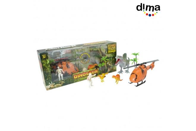 Set de juego dinosaurios con sonido mediano