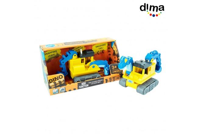 Dino construction mediano azul