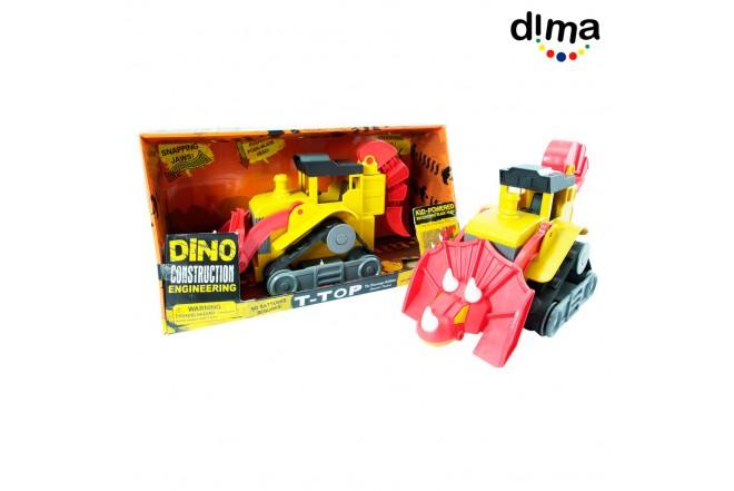 Dino construction grande rojo