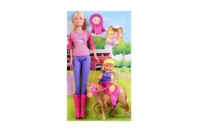Muñeca Steffi Love entrenadora de caballos Simba rosado