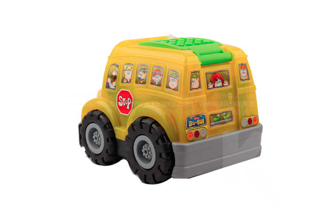Bloques Armar Bus Escolar 50 Piezas
