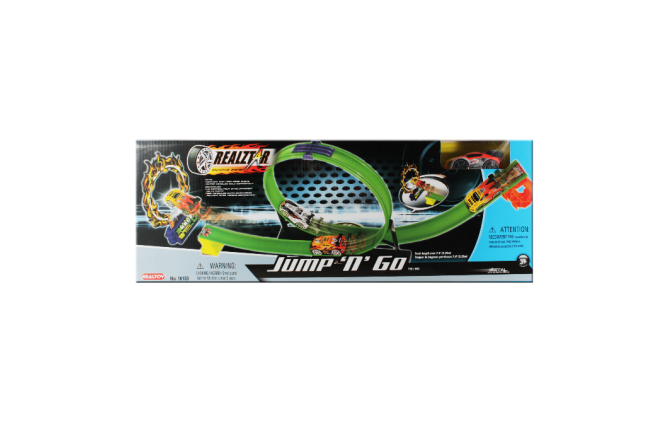 Pista de Carro Giro Sencillo Jump 'n' Go (Juguetes)
