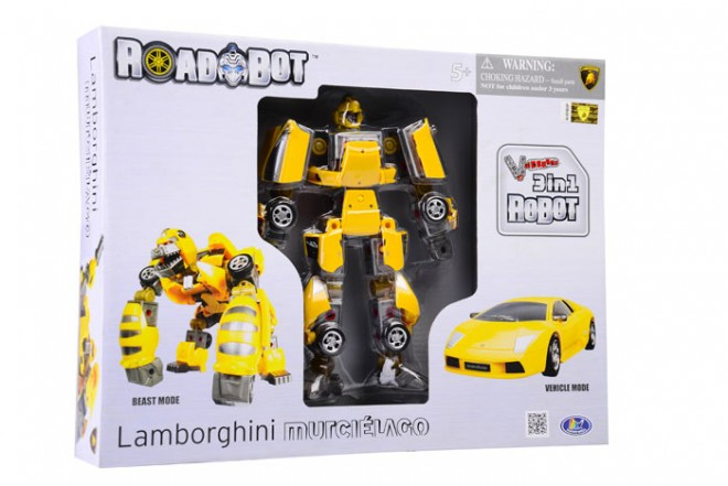 Transformer Robot Lamborghini Murciélago Happy Well Amarillo