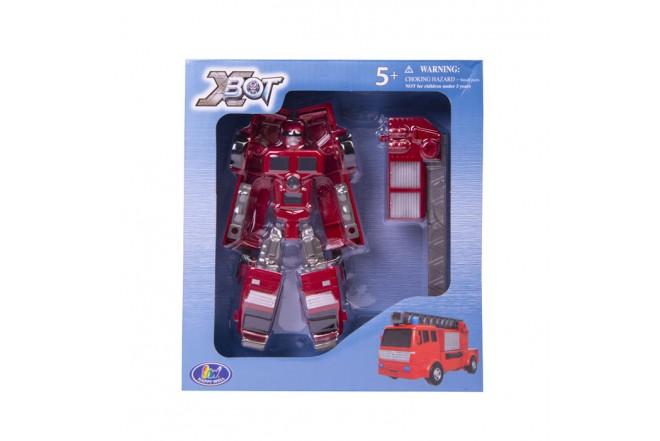 Juguete Robot transformer camión bombero Happy Well Rojo
