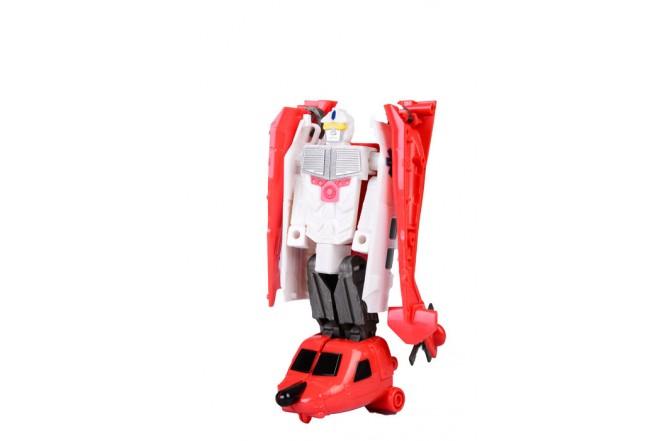 Robot transformer Helicóptero de rescate Happy Well Blanco