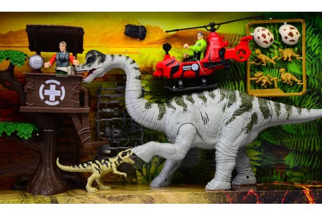 Playset dino valley Brachiosaurus tower Chap Mei