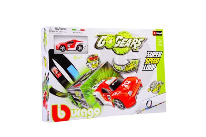 Pista de barrera Bburago Super speed loop go gears verde