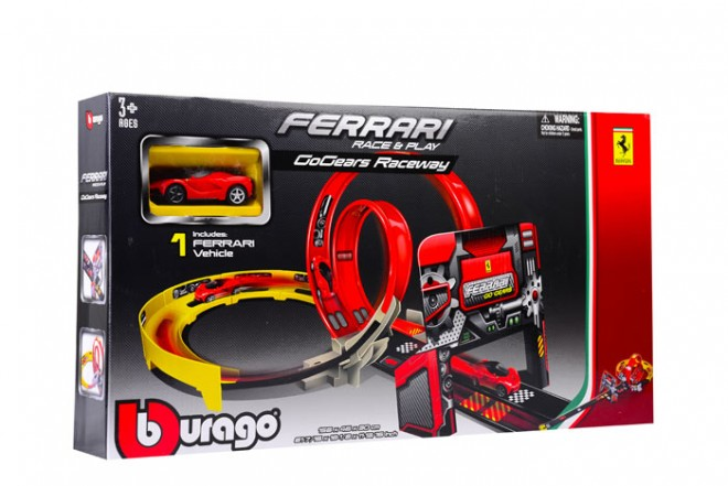 Pista Ferrari Bburago race and play Go Gear roja