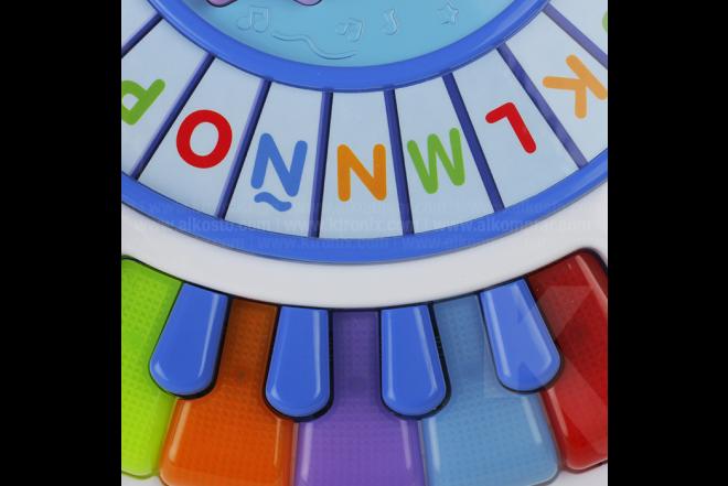 Juguete Mesa De Actividades Con Piano y Tren De Alfabeto