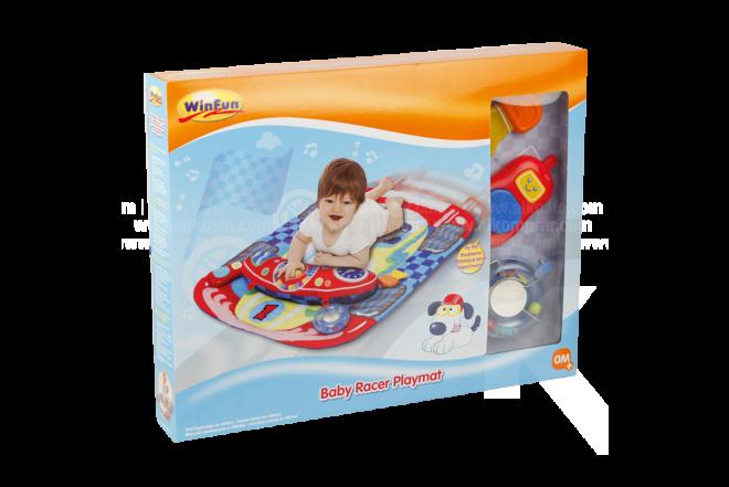 Juguete Alfombra Lúdica Coche de Carreras para Bebé