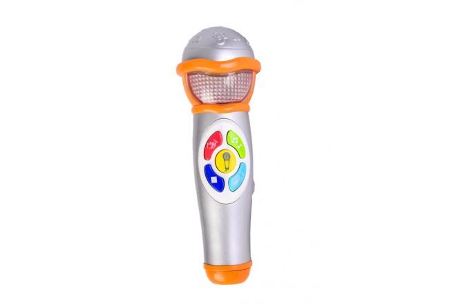 Micrófono para cantar con efectos de sonido Win fun plateado
