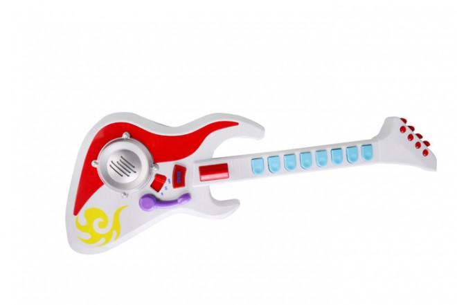 Guitarra eléctrica con sonidos y luces Win fun Blanco