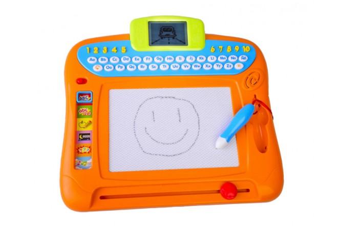 Pizarra mágica dibuja y escribe Win Fun naranja