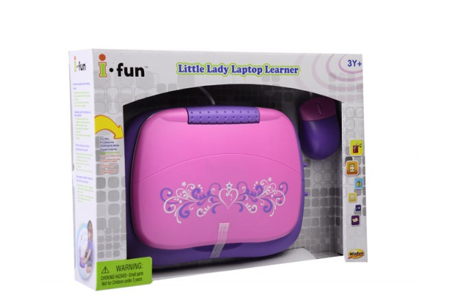 Tutor Laptop para señoritas Win Fun ifun rosado