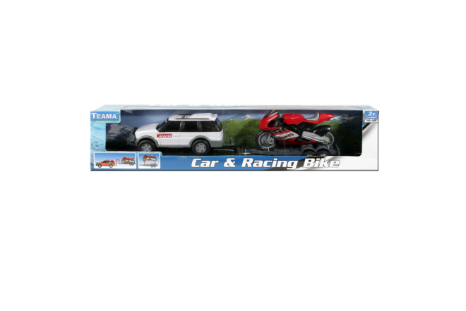 Vehículo Con Remolque Para Moto Car & Racing Bike (Juguetes)
