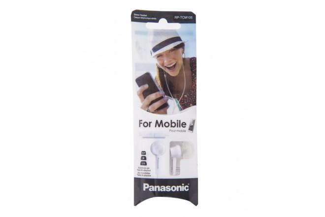 Audifonos PANASONIC Alambricos InEar RP-TCM 105 Blancos