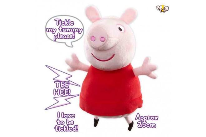 """PEPPA PIG Peluche con sonido Cosquillas y Risas 10"""""""