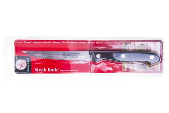 """Cuchillo de Cocina Multi-usos 4.5"""" 11.5 Cms Negro SMART COOK"""