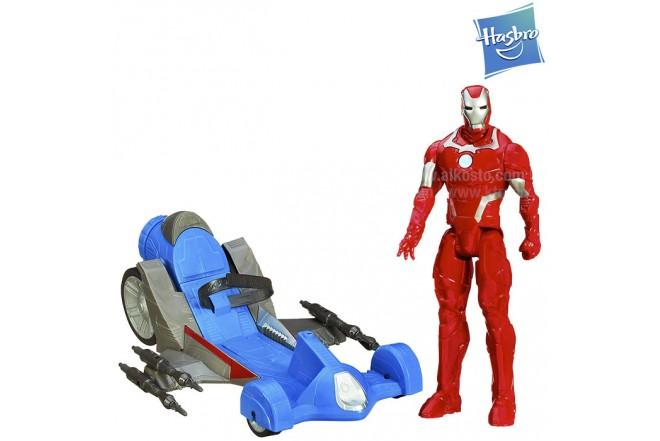 AVENGERS Iron Man con Vehículo