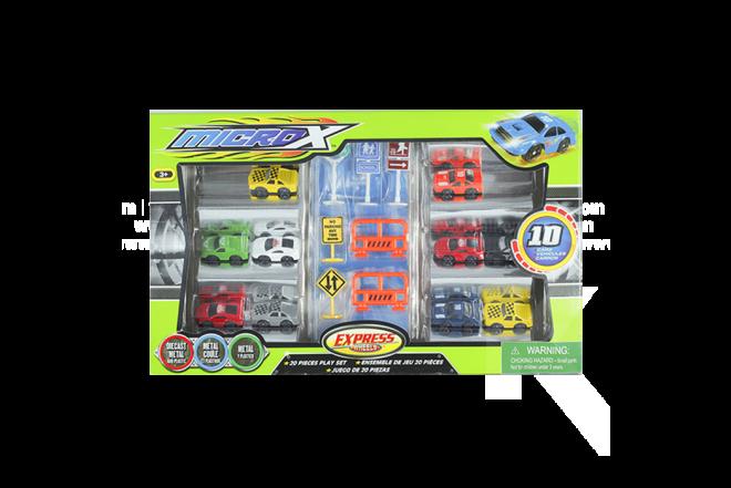 Set de Vehículos Micro X Express Wheels