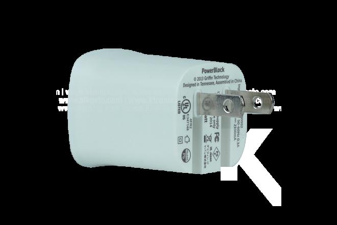 Cargador GRIFFIN PowerBlock Blanco