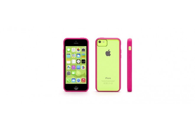 Carcasa GRIFFIN Reveal for iPhone 5c Hot Pink/ Clear