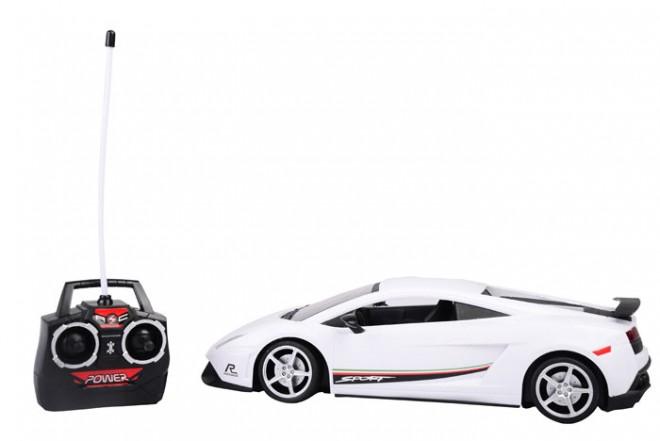 Auto deportivo radio control escala 1:12 Happy Line Blanco