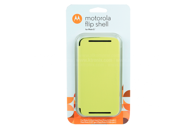 FlipCover Motorola Nuevo Moto G Amarillo