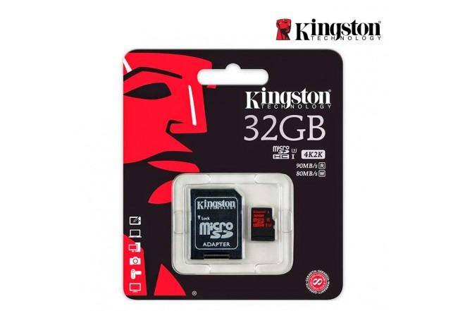 Memoria Micro SD KINGSTON 32GB + Adaptador C10