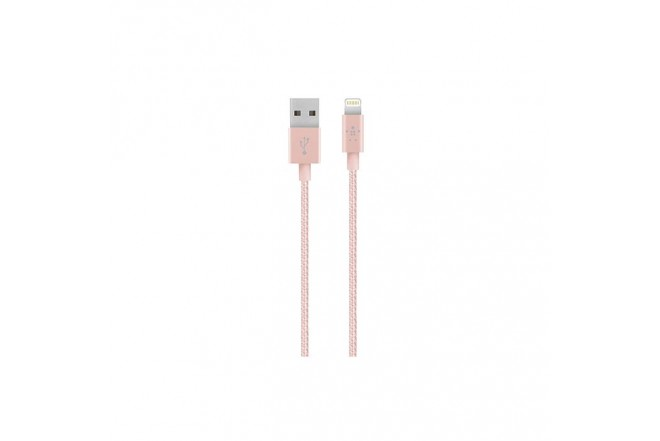 Cable BELKIN USB/Lightning 1,2M Rosado Premium