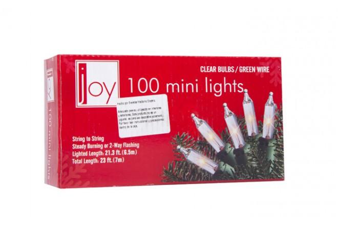Luces Navideñas JOY 100 Bombillas Blancas - 7Mts