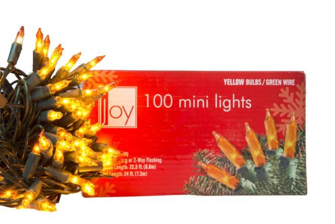 Luces Navideñas JOY 100 Bombillos Amarillo