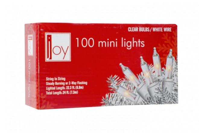 Luces Navideñas en Serie JOY 100 Bombillos - Transparente