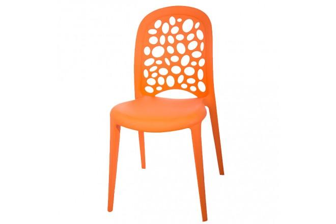 Silla Plástica Naranja Chic HLP-5059