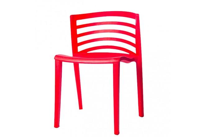 Silla Plástica Roja Elegante HLP-5073