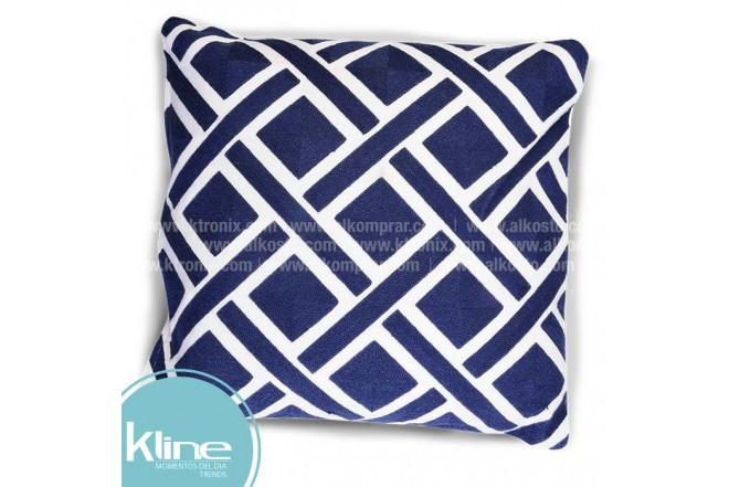 Cojín K-LINE Rombos Azul y Blanco 45x45 cm