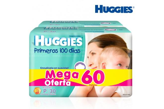 Pañal HUGGIES Pequeño 2 Cajas x 30 unidades PRECIO ESPECIAL