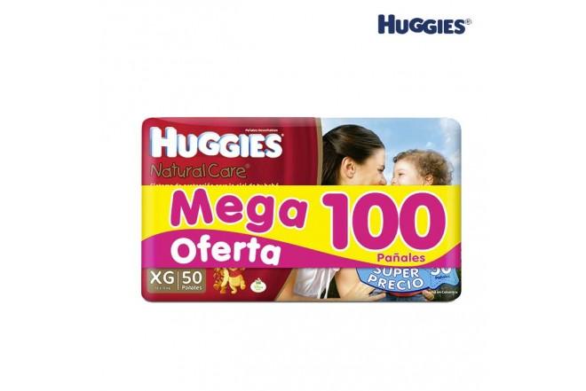 Pañal HUGGIES Natural Care Talla XG Caja 100