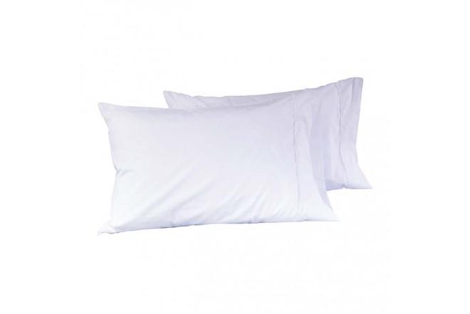 Juego de cama K-LINE Extradoble Sesgo Blanco 144 hilos