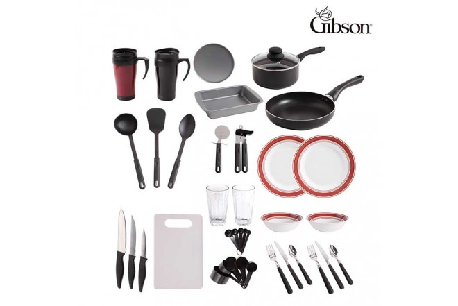 Set GIBSON Mi Primera Cocina 38 Piezas Rojo