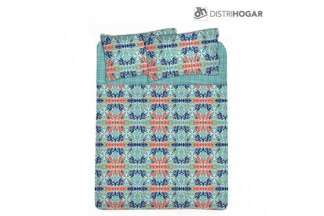 Juego de Cama Doble DISTRIHOGAR Tibetan Microfibra 100%
