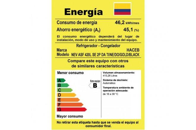Nevera HACEB 420 Litros 4202MEPC