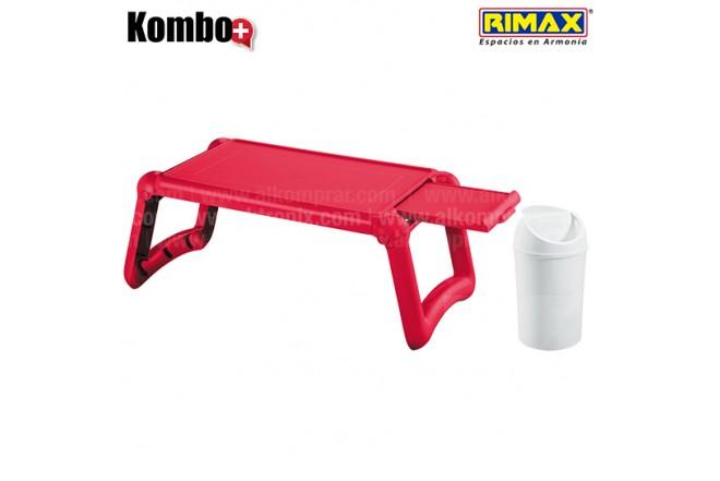KOMBO RIMAX: Mesa Laptop Roja +Papelera 1.5L