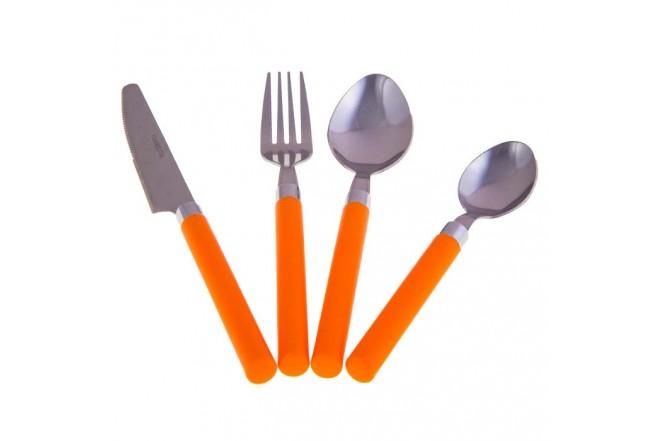 Juego de Cubiertos FREE HOME 16 Piezas 2802 Naranja